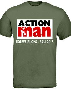 personalised bucks night t shirt