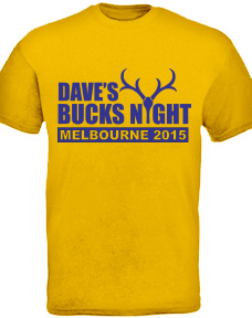 T-shirt logo for Bucks Party Ideas
