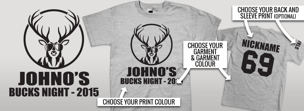 Buck Party T Shirts stock design