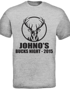 Custom printed Bucks Party T Shirts