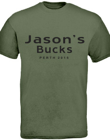 personalised bucks night shirts logo