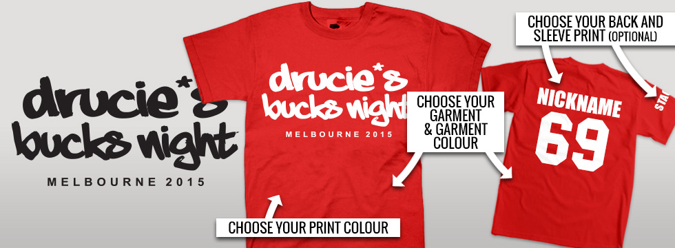 Stock ideas for bucks party t-shirts