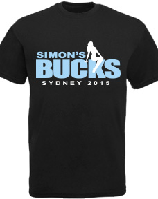Personalised Bucks Night Shirts stock design