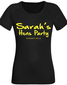 Hens Night Shirt - Just Text 4