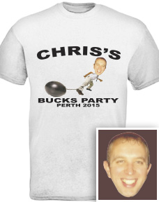 Personalised Bucks Party Tshirts