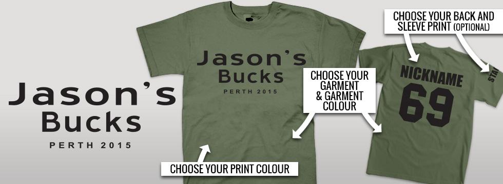 personalised bucks night shirts design