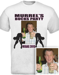 Custom Bucks Night T Shirts