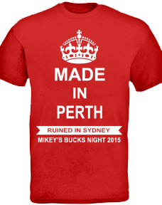 Design for stag party tshirts
