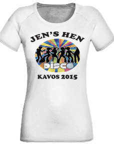 Hen Party T-Shirt with custom details