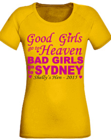 Personalised hens party tshirts