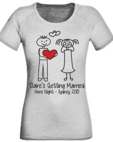 personalised hens t-shirt design