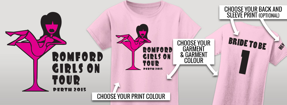 Hens do TShirts - fully personalised designs