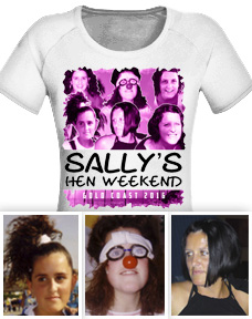 Hens night t shirt with photo design